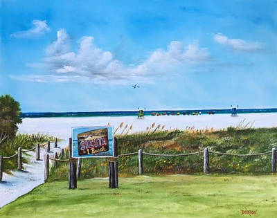 Painting - Siesta Key Public Beach by Lloyd Dobson