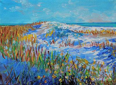 Painting - Siesta Key Sand Dune by Lou Ann Bagnall