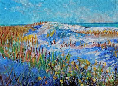 Painting - Siesta Key Sand Dune by Lou Ann Bagnall