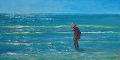 Painting - Siesta Key Searching by Alan Zawacki