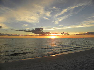 Gulf Of Mexico Photograph - Siesta Sun Down by Ric Schafer