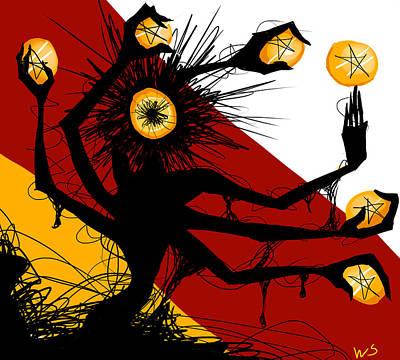Digital Art - Siete De Oros by Willow Schafer