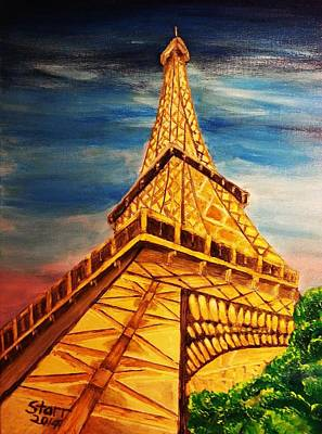 Paris Skyline Royalty-Free and Rights-Managed Images - Eiffel Tower Looking Up by Irving Starr