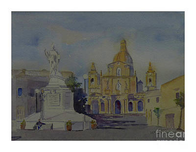Painting - Siggiewi Main Square by Godwin Cassar