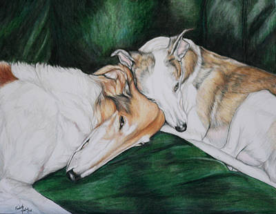 Sighthound Comfort Art Print