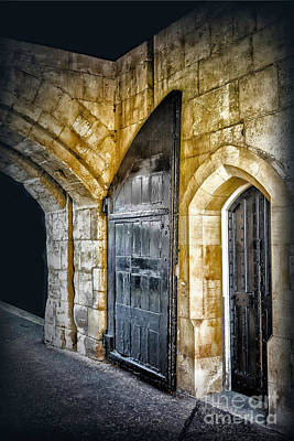 Photograph - Sights From England - Big Castle Door by Walt Foegelle