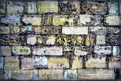 Photograph - Sights From England - Old Brick Wall by Walt Foegelle