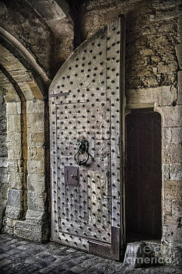 Photograph - Sights In England - Big Castle Door by Walt Foegelle