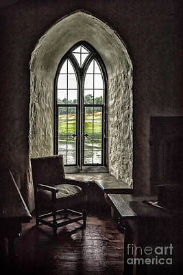 Photograph - Sights In England - Castle Window 2 by Walt Foegelle