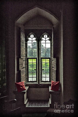 Photograph - Sights In England - Castle Window by Walt Foegelle