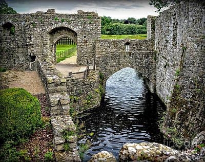 Photograph -  Sights In England - Castle With Moat by Walt Foegelle