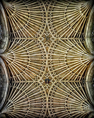 Photograph - Sights In England - Church Ceiling by Walt Foegelle