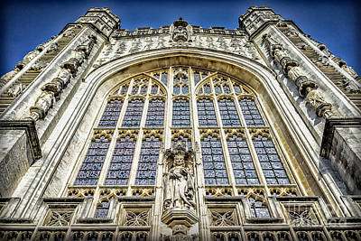 Photograph - Sights In England - Church Front by Walt Foegelle