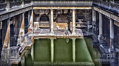 Photograph - Sights In England - Roman Bath by Walt Foegelle