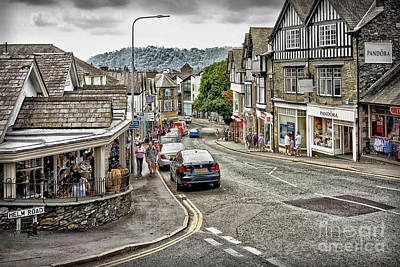 Photograph - Sights In England - Village Street by Walt Foegelle