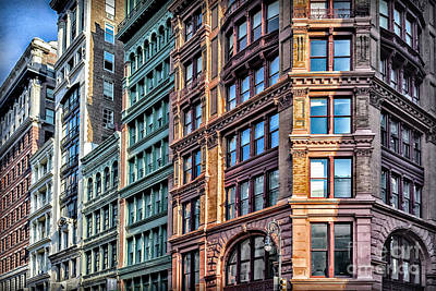 Photograph - Sights In New York City - Colorful Buildings by Walt Foegelle