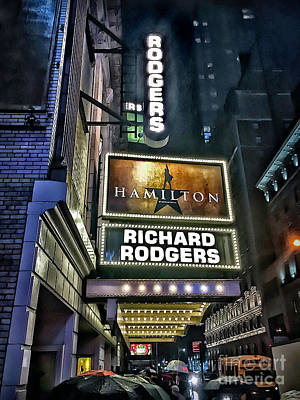 Sights In New York City - Hamilton Marquis Art Print by Walt Foegelle