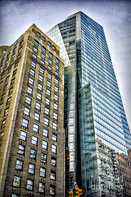 Art Print featuring the photograph Sights In New York City - Skyscrapers by Walt Foegelle