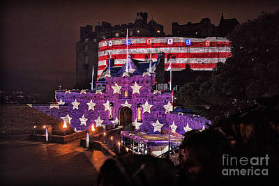Photograph - Sights In Scotland - America At Tattoo by Walt Foegelle