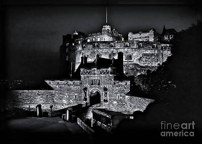 Photograph - Sights In Scotland - Castle Bagpiper by Walt Foegelle