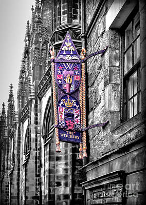 Photograph - Sights In Scotland - The Witchery by Walt Foegelle
