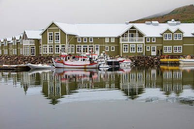 Photograph - Siglufjorour Fishing Village, Iceland by Venetia Featherstone-Witty
