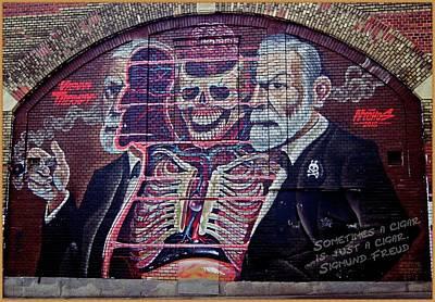Grafitti Mixed Media - Sigmund Freud 2 by Nastja Stamenkovic
