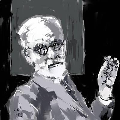 Digital Art - Sigmund Freud by Jim Vance