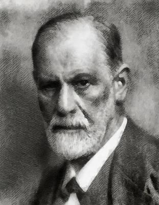 Einstein Portrait Painting - Sigmund Freud by John Springfield