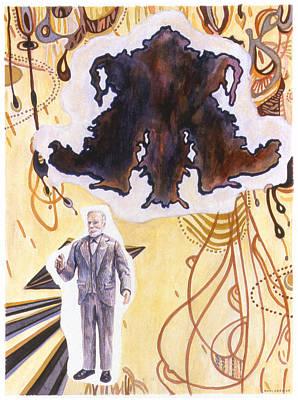 Rorschach Drawing - Sigmund Freud by Karl Frey