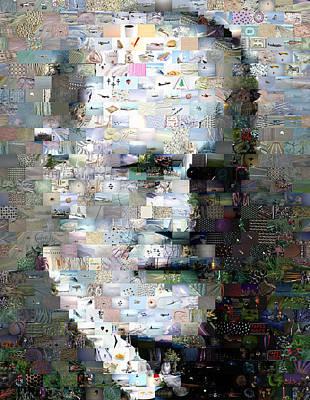 Freud Digital Art - Sigmund Freud Mosaic by Paul Van Scott