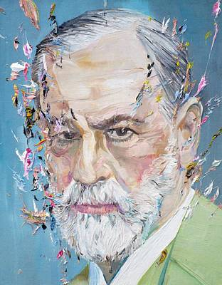 Painting - Sigmund Freud - Oil Portrait by Fabrizio Cassetta
