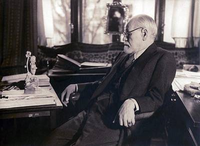 Psychology Photograph - Sigmund Freud Seated In His Study by Everett