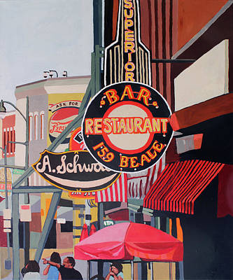 Painting - Sign City by Melinda Patrick