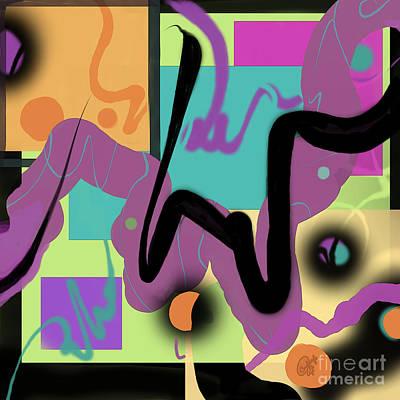 Digital Art - Sign Here by Carol Jacobs