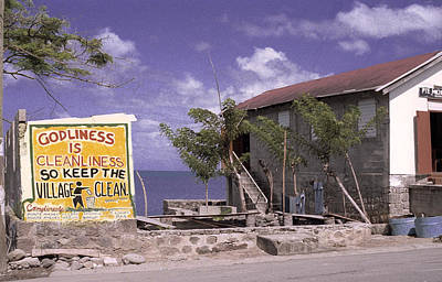 Photograph - Sign In Dominica  by Richard Nickson