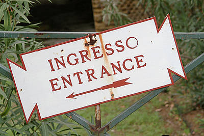 Photograph - Sign-ingress-entrance by Michael Flood