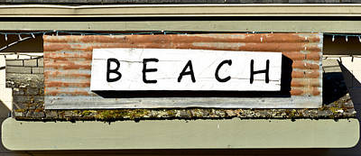 Sign Of A Beach Art Print
