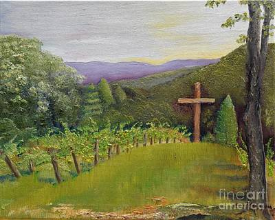 Painting - Sign Of The Cross At Engelheim Vineyard by Jan Dappen