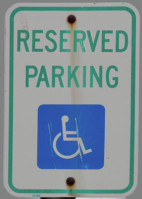 Photograph - Sign-reserved Parking by Michael Flood