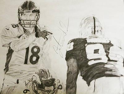 Oakland Raiders Drawing - Signal Caller by Justin Wade