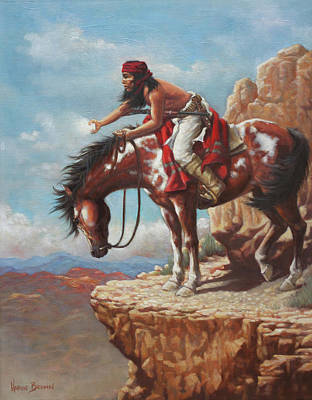 Apache Painting - Signal by Harvie Brown