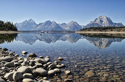 Photograph - Jackson Lake  Near Signal Mountain Lodge by Shirley Mitchell
