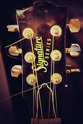 Signature Guitar Print by Toni Hopper