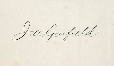 Signature Of James Abram Garfield 1831 Print by Vintage Design Pics