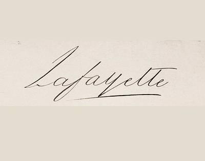 Signature Of Print by Vintage Design Pics