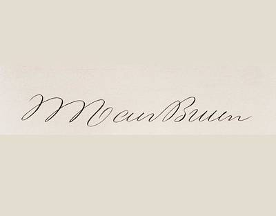 Sly Drawing - Signature Of Martin Van Buren 1782 To by Vintage Design Pics