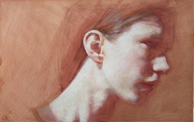 Introspective Painting - Signe by Jennifer Anderson
