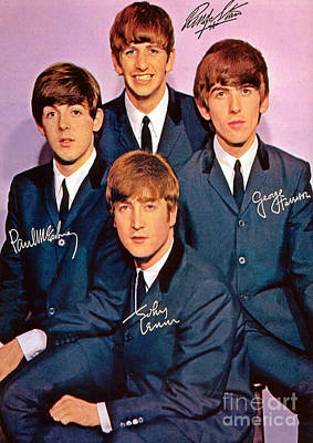 Signed Beatles Poster Art Print by Pd