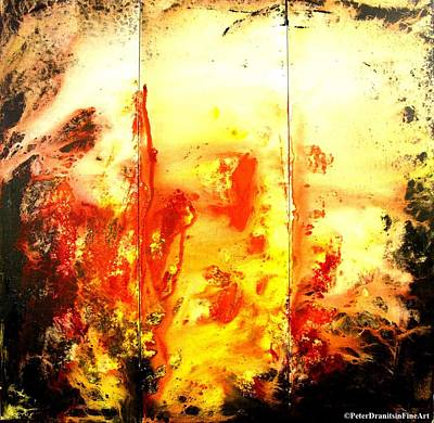 Signed By Fire Art Print by Peter Dranitsin